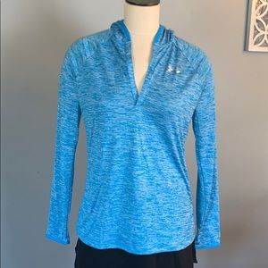 Under armor hooded shirt blue woman's large
